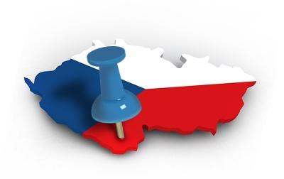česká vlajka a mapa Český Krumlov KasalFOTO