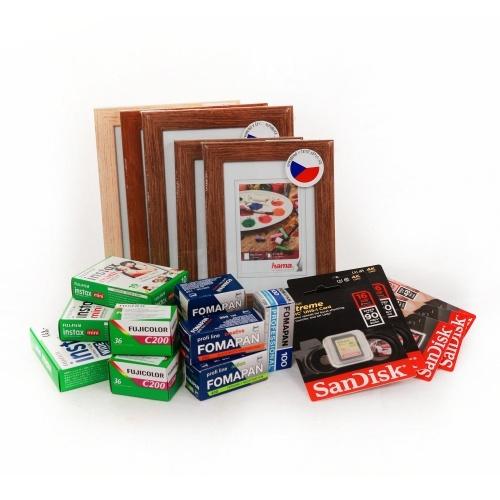 prodej foto příslušenství KasalFOTO Český Krumlov - rámečky, kinofilmy, paměťové karty