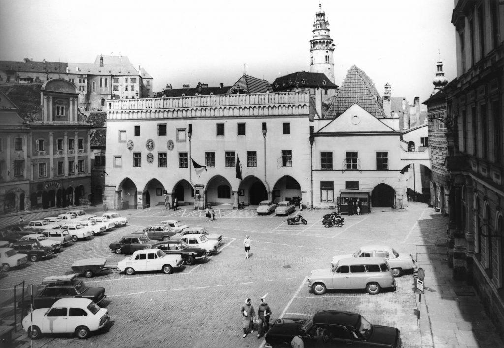 Historický pohled na náměstí Svornosti, Český Krumlov - KasalFOTO