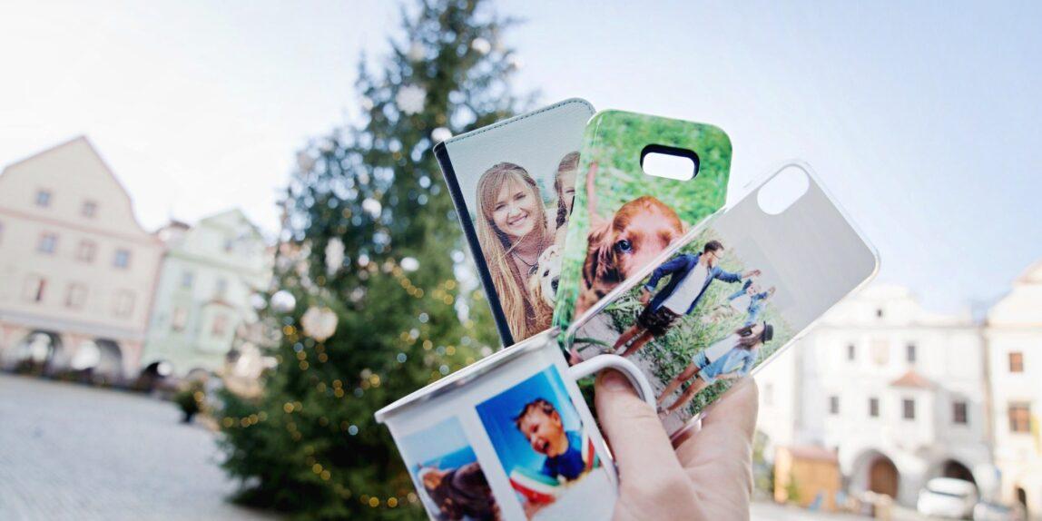 vánoční fotodárky, Český Krumlov vánoční náměstí, advent