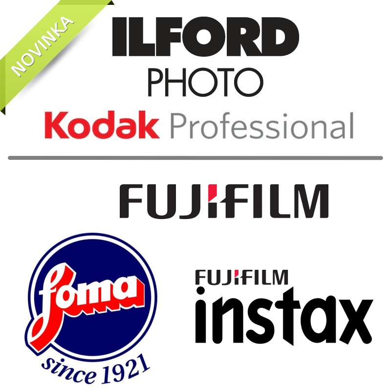 sortiment kinofilmů KasalFOTO Český Krumlov ILFORD, KODAK, FUJIFILM, FOMA, FOMAPAN, INSTAX