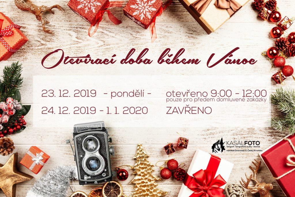 vánoční otevírací doba 2019 KasalFOTO